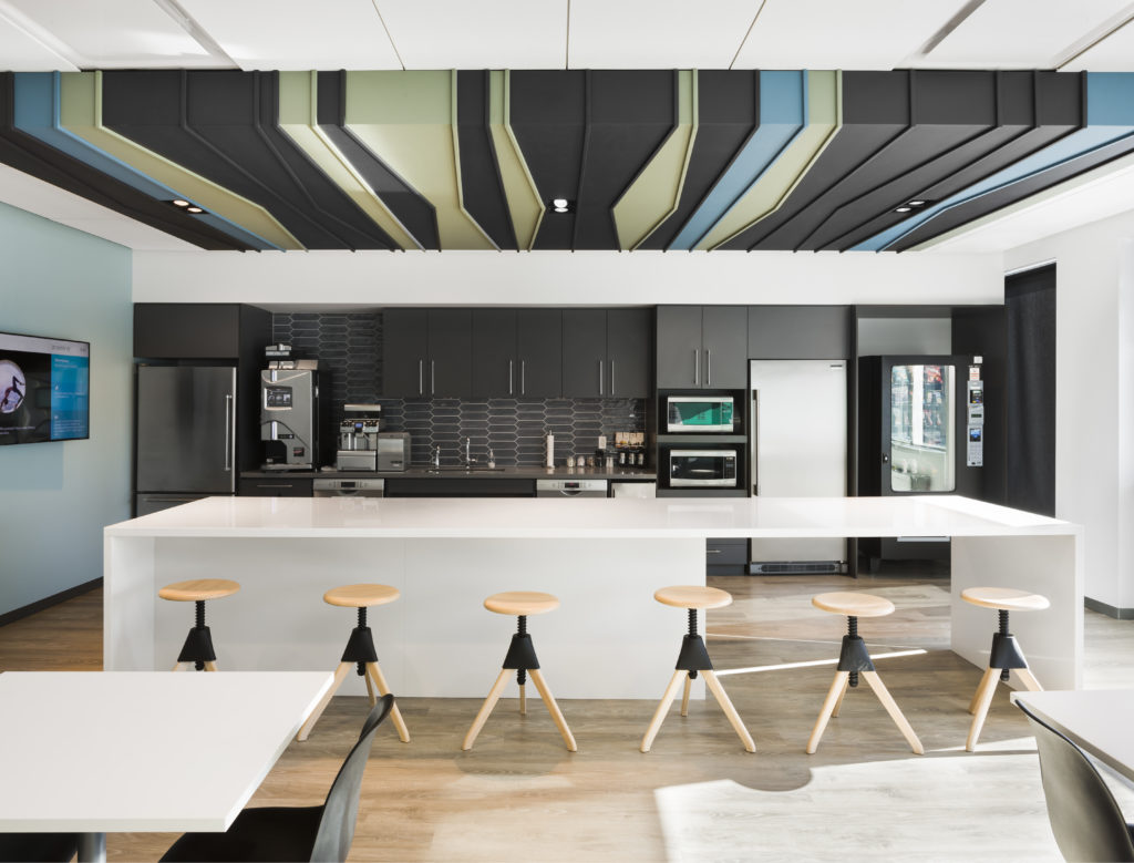 Redesign of the coffee area at the Deloitte offices